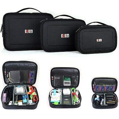 1Set 3Pcs Travel Storage Carrying Bag Organizer Case for USB Flash Drive Cable