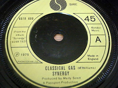 "Synergy - Classical Gas     7"" Vinyl"