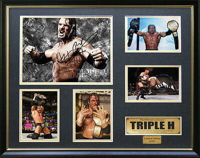 Triple H Signed Framed Memorabilia
