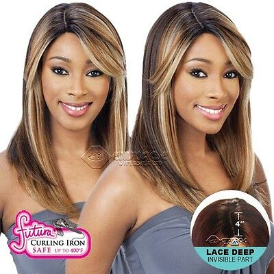 Equal Synthetic Brazilian Natural Deep Invisible Part Wig Lace Nelly