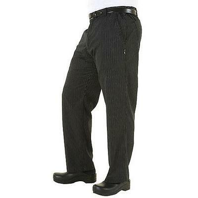 Chef Works - PSER-GST-S - Gray Stripe Professional Pant (S)