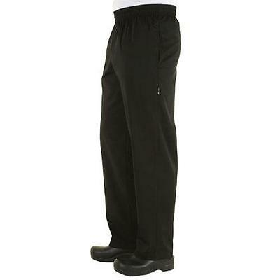 Chef Works - NBBZ-BLK-XS - Black Baggy Chef Pants (XS)