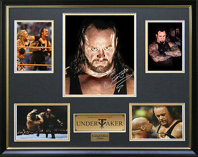 Undertaker Signed Framed Memorabilia