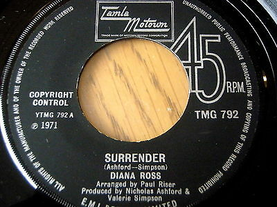 "Diana Ross - Surrender   7"" Vinyl"