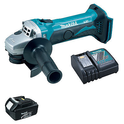 Makita 18V Lxt Dga452 Dga452Z Angle Grinder, Bl1830 Battery And Dc18Rc Charger