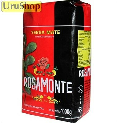 Y38 Yerba Mate Rosamonte 1Kg Tea Argentina With Stems