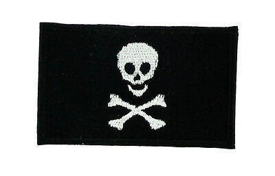 PIRATE FLAG iron-on PATCH JOLLY ROGER Skull EMBROIDERED Calico Jack Backpacks