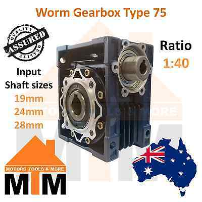Gearbox Worm Type 75 1:40 Ratio 40 Reduction