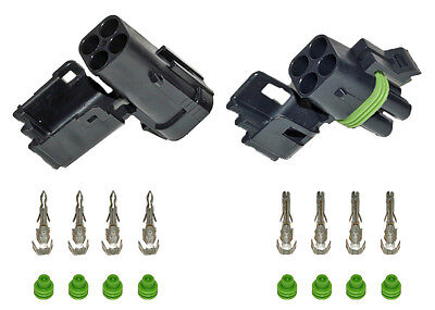 Weather Pack 4 Pin Square Connector Kit 20-18 GA