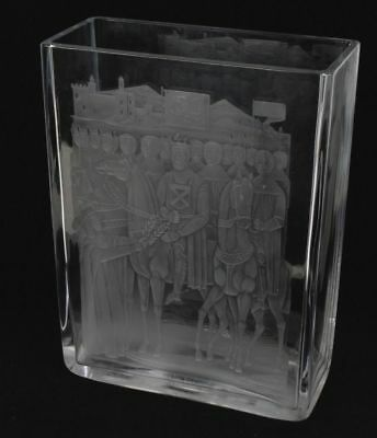 "Unique Sven Palmqvist ""robert The Bruce"" Orrefors Crystal Vase For Chivas Regal"