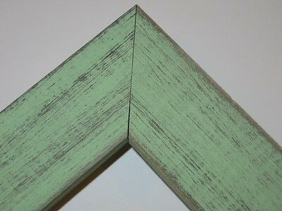 """1.5"""" Country Mint Julip Green Rustic Distressed Weathered Picture Frame-Square"""