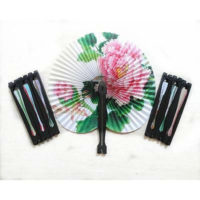Cool Summer Kids Child Girl Chinese Fan Folding Small Round Paper Hand Fans Toy