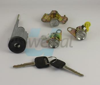 LOCK SET TOYOTA COROLLA E10 2 door lock cylinder with keys + ignition + trunk