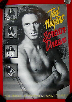 Ted Nugent HUGE 1980 GIANT poster Scream Dream mint condition