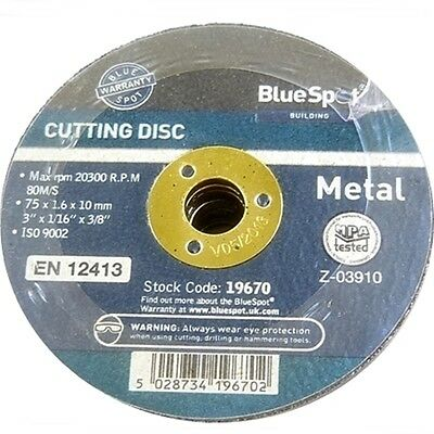 "10 Pack 75MM 3"" Cutting Disc Die Grinder Air Cut Off"