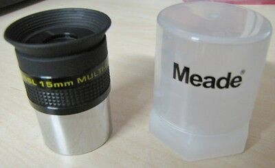 "Meade 15MM 1.25"" super plossl telescope eyepiece 4000 series Free USA Shipping!"