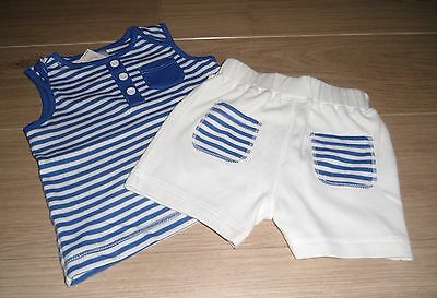 **BNWT** MINI CLUB at BOOTS TOP & SHORTS SET ~ 100% COTTON ~ 6-9 months