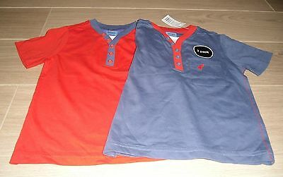 **BNWT** PACK of 2 FLORENCE & FRED COTTON T SHIRT / TOPS ~ 1½- 2 years