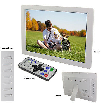 15 Inch LCD Multi-media Digital Picture Photo Frame with Remote Control White