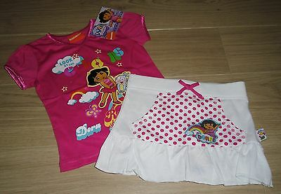 **BNWT** DORA the EXPLORER TOP & SKIRT SET AGE 3-4 yrs