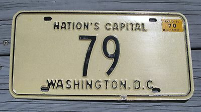 1970 70 District Of Columbia Dc Washington License Plate #79 Rare Tag Nice One