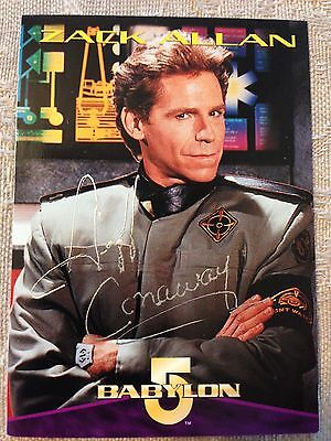 Babylon 5 Jeff Conaway Signed Card of Zack Allan B5