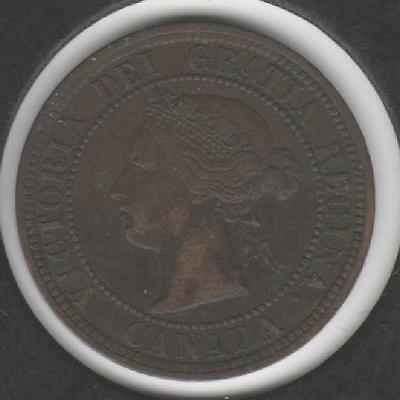 1876-H EXTREMELY FINE Canadian Large Cent #1