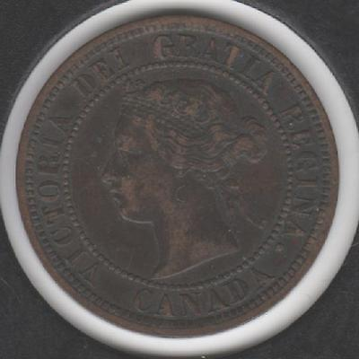 1876-H EXTREMELY FINE Canadian Large Cent #2