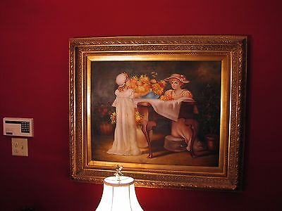 Painting  (Beautiful Antique Ornate Framed Oil Canvas)