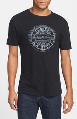 Guinness Black Distressed Style  T Shirt by RED JACKET USA (S-XXL)