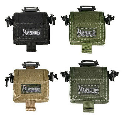 Maxpedition Rollypoly 0208 Dump Pouch-Black-Khaki-Olive Drab-Foliage-KH Foliage