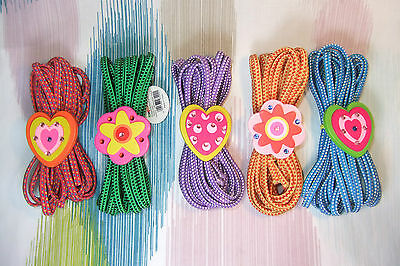 Children's Flower & Heart Elastics Chinese Jumping Rope /French Skipping! 500cm