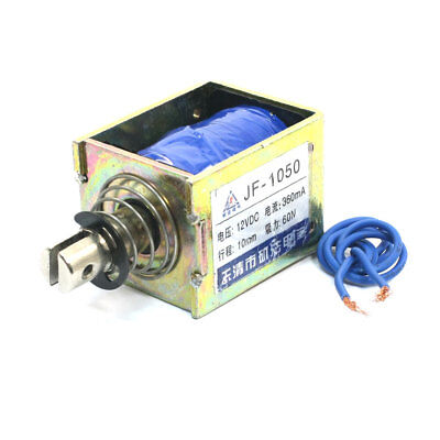 JF-1050 DC12V 360mA 60N/10mm Linear Motion Pull Type Solenoid Electromagnet