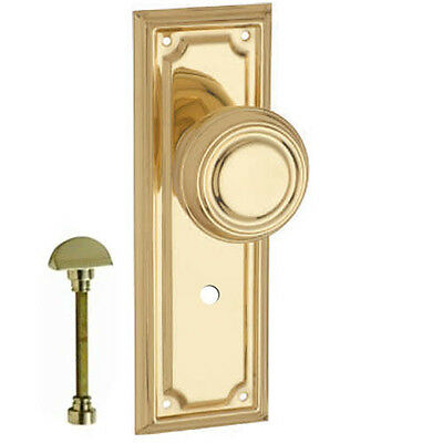 Edwardian Privacy Door Handle-Polished Brass-185x60mm-Pair- DFTH1056P