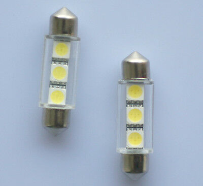 10x 39mm Soffitte Lampe C10W 3 x 5050 SMD LED weiss Innenraum Beleuchtung 12V