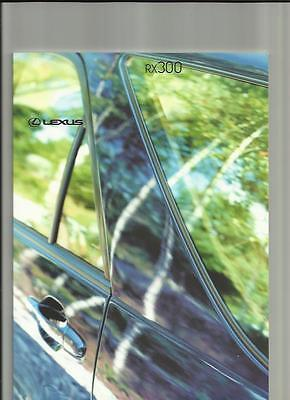 Lexus Rx 300 And Rx 300 Se Sales Brochure October 2000 For 2001 Model Year