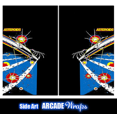 Asteroid 2 Arcade Side Artwork Panel Stickers Graphics / Laminated All Sizes