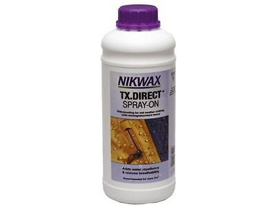 Nikwax TX.Direct Spray-On 1 Litre Refill Waterproofing For Wet Weather Clothing