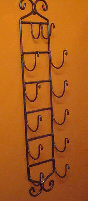 Excellent Reproduction Early American Adirondack Hand Wrought Iron Towel Rack