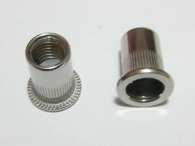 Qty 50 M8 Large Flange Nutserts 304 A2 Stainless Steel Rivet Nut Nutsert Nuts
