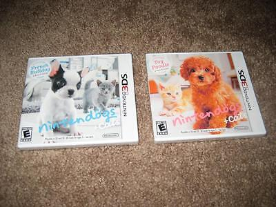 Nintendogs + Cats French Bulldog & New Friends Toy Poodle Nintendo 3DS - NEW