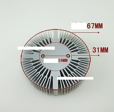 5W6W7W8W9W  LED Aluminum Heat sink Round radiator 67mm OD A128
