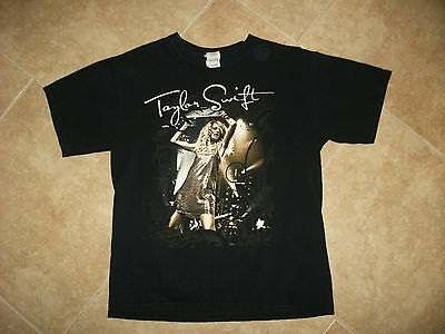 Taylor Swift M Black T Shirt Tour Concert Cities Country Music Pop Star