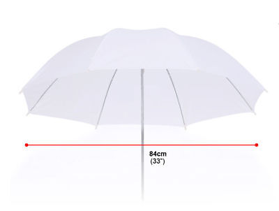 "33"" 84CM Studio Flash Translucent Soft White Umbrella"