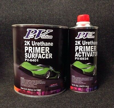 2K Urethane Primer Surfacer Gray (GALLON) with QUART Activator 1-KIT