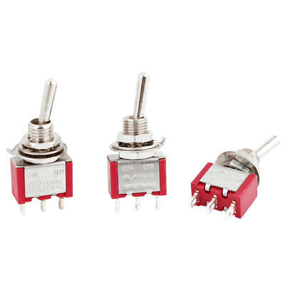 3Pcs SPDT 2 Positions Auto Motor Rocker Toggle Switch AC250V 2A 120V 5A