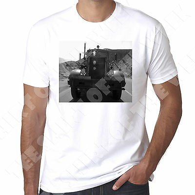Peterbilt Truck from Duel Spielsberg early film mens Printed  T shirt