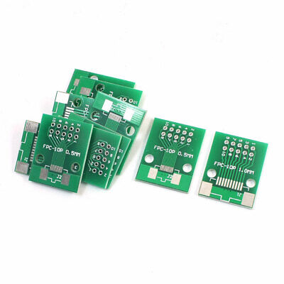 10 PCS SMD FPC-10P to DIP10 Dual Sides IC PCB Adapter Board Plate Converter