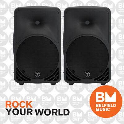 "2 x Mackie SRM350 V3 Powered Speaker 1000w 2-Way 10"" Active Box Monitor Pair -BM"