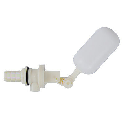 """White Mini DN15 1/2"""" Size Plastic Adjustable Float Valve Switch for Water Tower"""